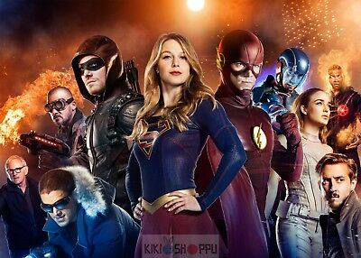 Poster A3 Arrow The Flash Supergirl Hero DC Comic Serie Cartel 03