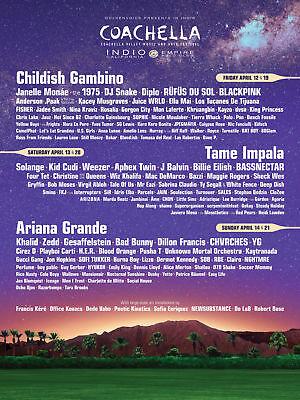 Two 2019 Coachella Weekend 1 GA Passes, Car Camping, Poster & Preferred Parking
