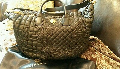 NWT VERSACE VANITAS Collection Lambskin Leather Shoulder Bag with ... eaef2f652b