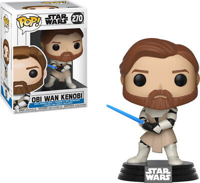 Clone Wars - Obi Wan Kenobi - Funko Pop! Star Wars (2018, Toy NUEVO)