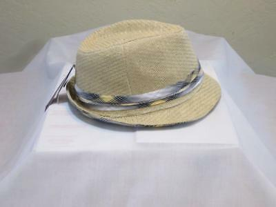 NWT DAVID   Young Straw Fedora Hat with Band Accent One Size ... 1028f74f31a