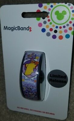 Disney Parks Magic Band 2018 Figment Journey Into Imagination LIMITED RELEASE