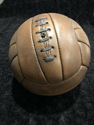Soccer Ball Vintage Leather 1900,s  Style