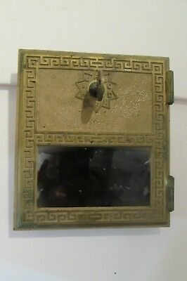 Vintage 1975 Brass Keyed Post Office Box Old Antique