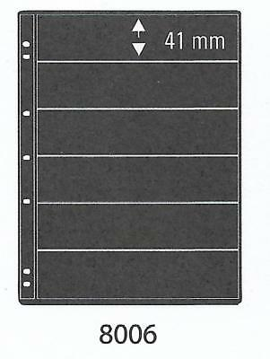 PRINZ PRO-FIL 6 STRIP BLACK STAMP ALBUM STOCK SHEETS Pack of 5 Ref No: 8006