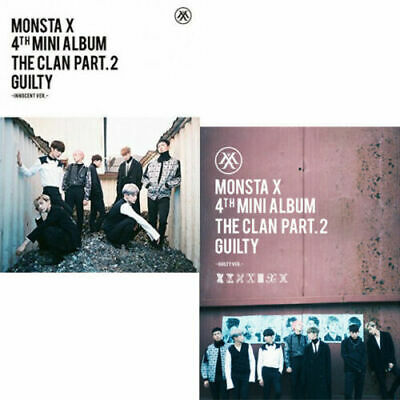MONSTA X [THE CLAN 2.5 PART.2 GUILTY] 4th Mini Album CD+P.Book+Card+GIFT SEALED