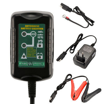 12V/1.5A Smart Lead Acid Battery Charger Car Motorcycle Tender Maintainer MA1413