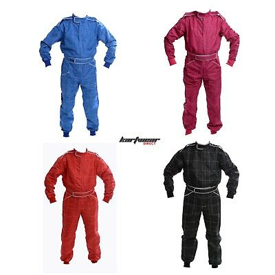 Kart Race Suit BLACK BLUE RED PINK Junior sizes Overalls