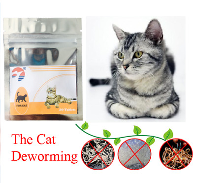 Easy ALL WORM Pet Dewormer for Cat/Kitten- Broad Spectrum kill parasites 30 Tabs