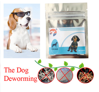 30-120 Tabs Dog Pet Animal Wormer Worming Tablets Dewormer USA Seller