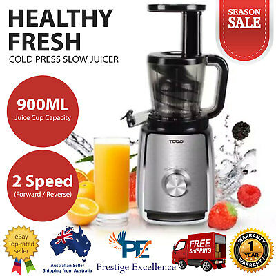 Cold Press Slow Juicer Vegetable Fruit Juice Extractor Machine 150W Compact TODO