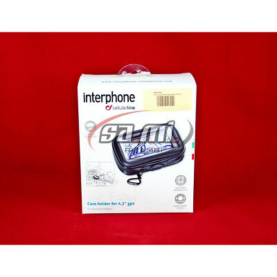 "Portanavigatore Moto Cellular Line 4.3"" Interphone Sm43 Manubrio Tubolare"