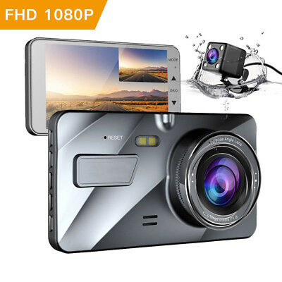 Car DVR 4'' HD 1080P Dual Lens Dash Cam Video Recorder Front Rear Camera MA1766