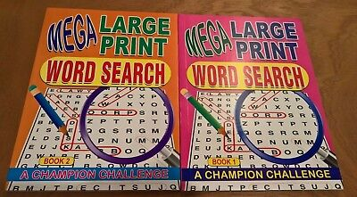 A4 Mega Word search book 129 puzzles large print choice of book 1 or 2