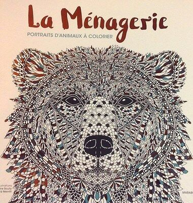 Art Therapie La Menagerie Portraits D Animaux Coloriages Anti Stress Marabout