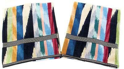 """MISSONI HOME TWO BATH TOWELS MASTER MODERNO  COLLECTION HOMER T50  VELOUR 28x45"""""""