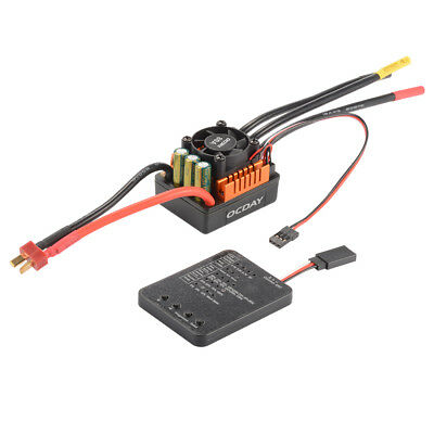 XCSOURCE 120A Brushless ESC Electric Speed Controller with Programming Card Kit for 1//8 RC Car Waterproof RC839