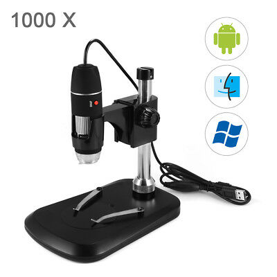1000X 8 LED USB Zoom Digitale Microscopio Hand Held Biological Endoscopio TE893