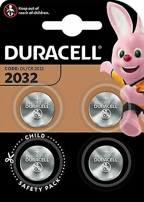 4 x Duracell CR2032 3V Lithium Coin Cell Battery 2032 button DL2032 SB-T15