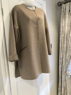 61578f0d ZARA WOMENS HANDMADE Wool Coat Camel beige Medium - £25.00 | PicClick UK