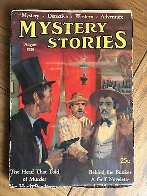 Mystery Stories - US pulp - August 1928 - vol.XV No.2 - nice paper quality !