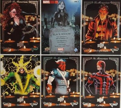 2017 Upper Deck Marvel Annual Trading Card Set  IN MEMORIAM IM1 - 5
