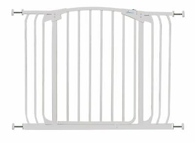 Stork Extra-Wide Safety Gate 97-108cm - White, Pressure Fit Stair Gate