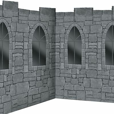 1.21m x 12.19m Medieval Wizard Castle Room Roll Stone Wall Decoration Banner