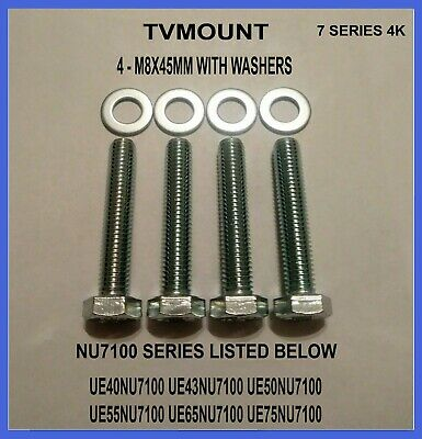 For Samsung Tv Wall Mount Bolts Screws UE49NU7100 UE55NU7100 Strong Secure M8x45