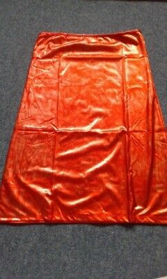 Red & Silver Womens Patent Faux Rubber Sexy Tube Dress Club Clothing Latex