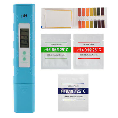 Digital PH Temperature Meter Water Quality Tester with 0-14 PH Test Paper TH934