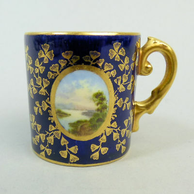 Antique Colaport Miniature Hand Painted Porcelain Cup C.1900