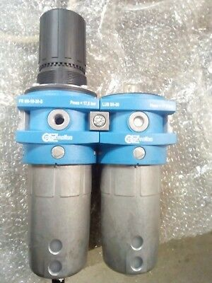 Filter regulator & Lubricator AZ pneumatica made in Italy (contain both spares)