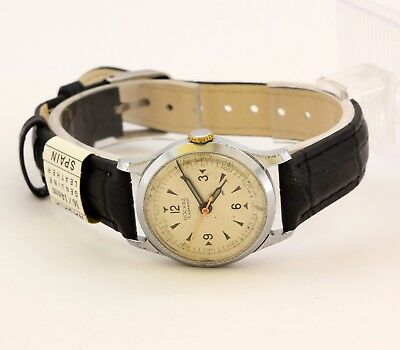 1950's MOSCOW wristwatch white dial rare Brand 1MChZ 16 Jewels USSR Soviet