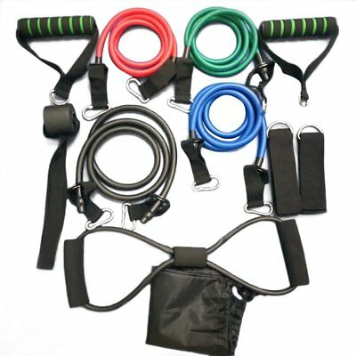 11 Pcs/Set Multifunctional Rally Pull Rope Muscle Training Resistance Bands T2