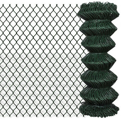 Green Chain Link Fencing Plastic Coated 1m High (Available in 15m and 25m Long)