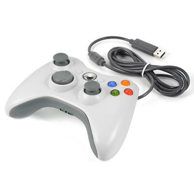 New Wired USB Game Pad Controller Joystick per Microsoft Xbox 360 White AC480