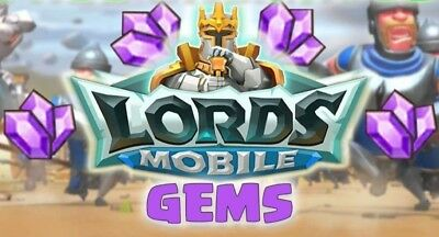 Lords Mobile 100k Gems Gifting - Must Be Under 410M Might