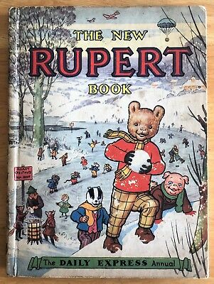 RUPERT ORIGINAL ANNUAL 1951 Inscribed Price Clipped VG Example