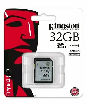 Kingston 32GB Class 10 SDHC Memory Card - Brand new - sealed