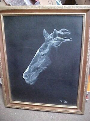 Horse Painting/Lithograph Signed Martin 2015 Framed Estate Find 19 X 24 Inches