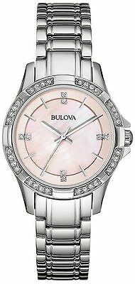 Bulova Women's 96L206 Stainless Steel Pink Mother-Of-Pearl Dial Quartz Watch