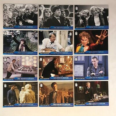 DOCTOR WHO (Topps/2015) Complete WHO IS THE DOCTOR? Chase Card Set 12 (#D1-#D12)