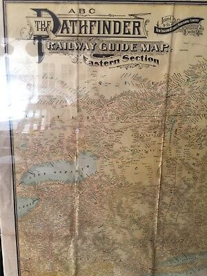 Antique Map ABC The Path Finder Railway Guide—1913