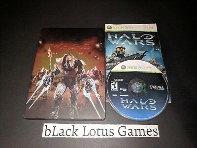 With Steelbook Game Case Halo Wars Xbox 360 XB360