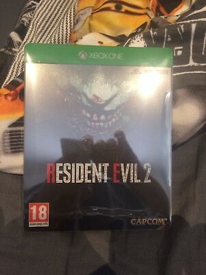 Resident Evil 2 Remake Xbox One Steel Book With Dlc. Brand New