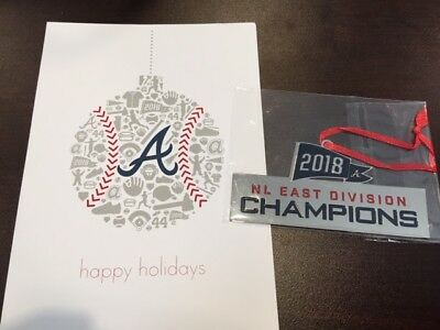 2018 2019 Atlanta Braves Christmas  NL East Champs ORNAMENT Season Ticket Holder
