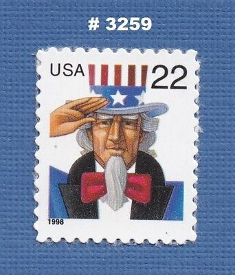 Scott #3259 Uncle Sam 22c - 1998 - Mint NH Single