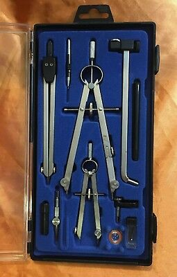 11pcs Mechanical Drawing Tools Drafting Compasses Architecture Engineering Set