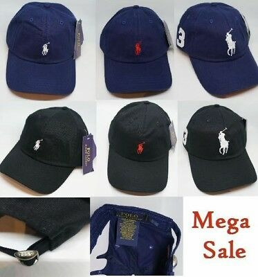 Polo Ralph Lauren Baseball Cap Black Blue Unisex One Size Free P&P Mega Sale